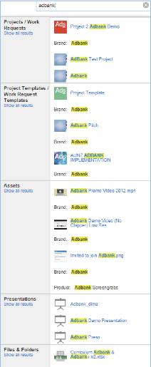 Search – Adstream Help Centre
